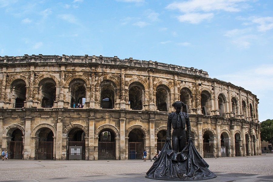 L'Arène de la ville de Nîmes