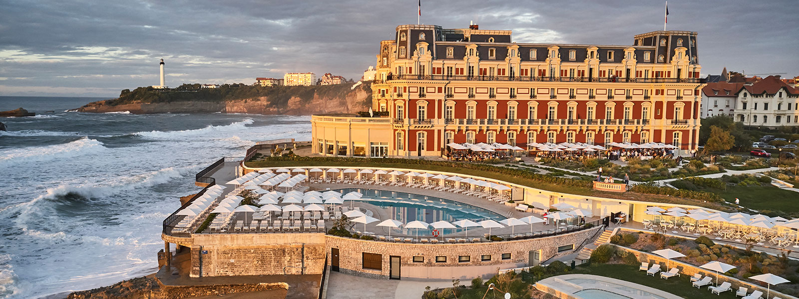 The Hotel du Palais in Biarritz, a historic spa hotel